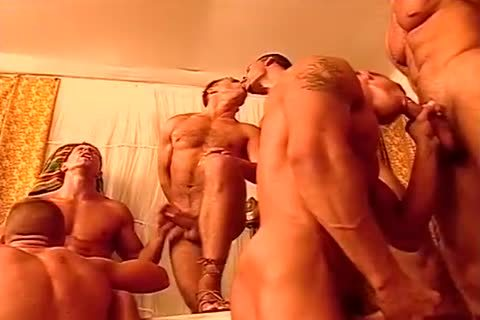 homo fellows poke One one greater amount In A naughty orgy
