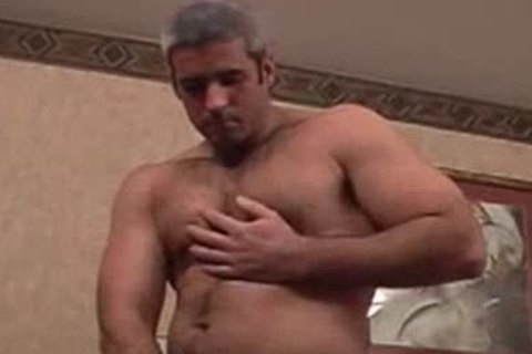Straight Silver brawny Bear acquires Teased