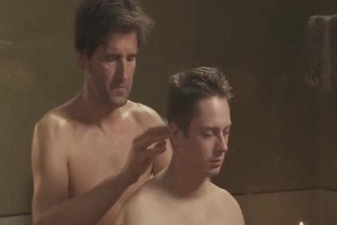 homosexual Partners Arousing anal Oil Massage