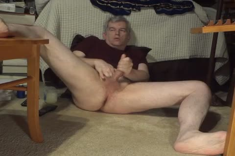 spreading My Legs Wide And Jerking My 10-Pounder