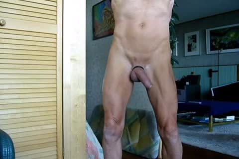 Stripping, Swinging My cock, Jerking-off And Cummin In The End