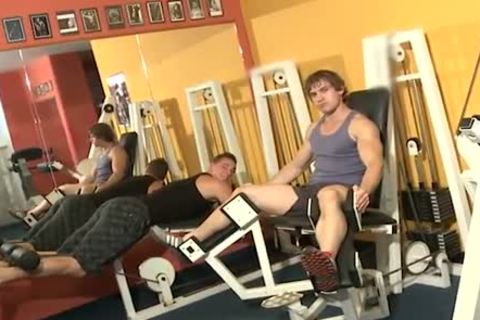 Workout penises poke Inside A Gym