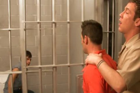 lascivious gays bone In three-some In Prison