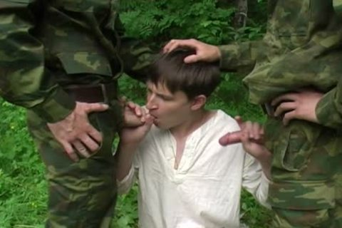 Two Military males get bj From A young twink