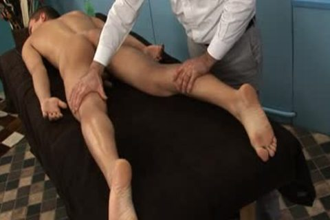 guys acquires Toyed & Stroked By Masseur