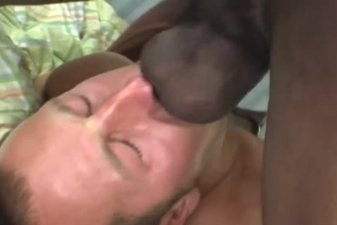 White guy Deepthroating A biggest black cock