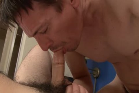 Two hairy fellows Who Worship dicks!