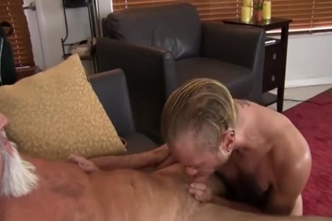 young guy gets nailed In The a-hole By naughty daddy chap