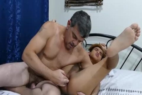 Oriental 18 Year Olds receives poked In The Pooter By older guy.