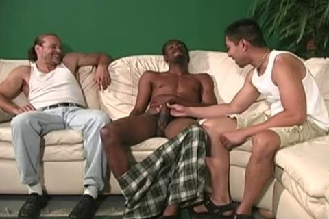 White guy acquires anal banged By darksome guys