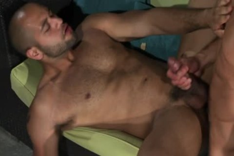 Ripped Latin gay goo