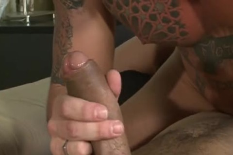 Bearded twink Deepthroating penis.