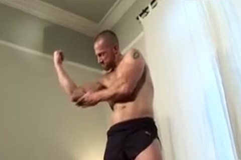 beefy Muscled Rugby dad Solo sperm