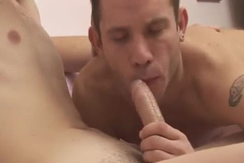 brunette guy Takes A ramrod In His taut arsehole