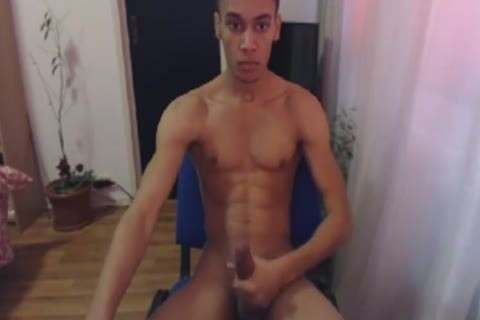 dark man Masturbates His Immense Shaft And Cums