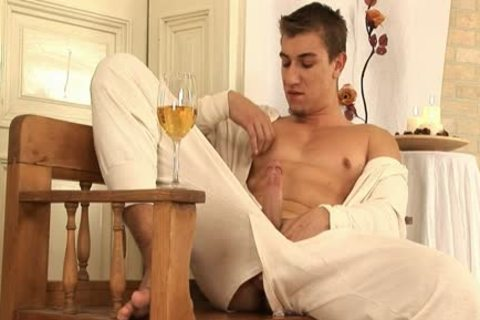 This stylish homo chap Comes Home And Drinks Some Wine previous to His Has A Sensual Self Devotion Session