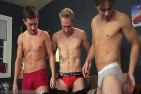 sexy gay 3some And cumshot