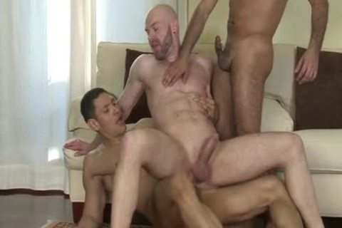Latin homosexual Flip Flop With Facial