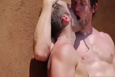 Muscle shlong three-some And cumshot