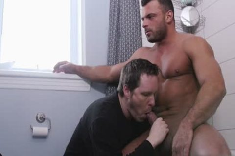 large penis homosexual irrumation-job With Facial