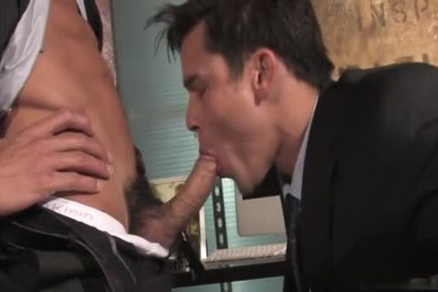large ramrod homosexual oral-sex-job With goo flow