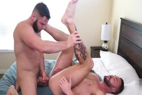 Muscle homosexual oral job With Facial