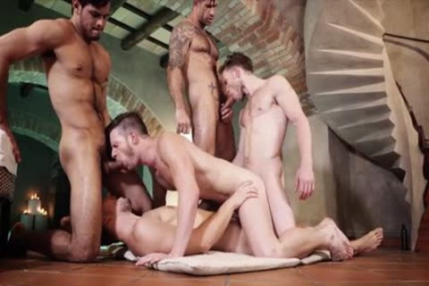 sexy homosexual 3some With ball cream flow