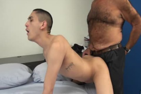 Latin Daddy Bear bangs Latin twink unprotected