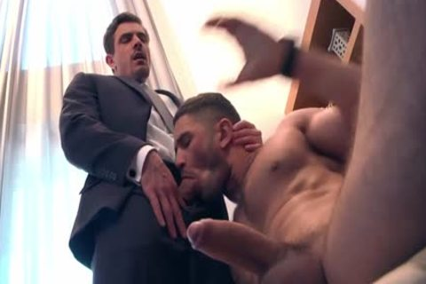 Muscle gay arse slam With Facial