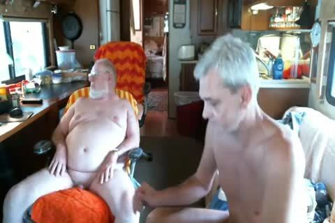 Daddy engulf old man On cam