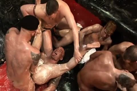 FIST plow orgy 8 HUNKS IN  FULL BODY CRISCO