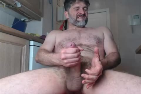 JACKING OFF THE large throbbing UNCUT penis