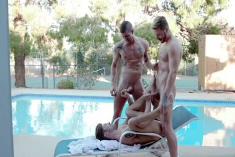 large cock homosexual three-some And ejaculate flow