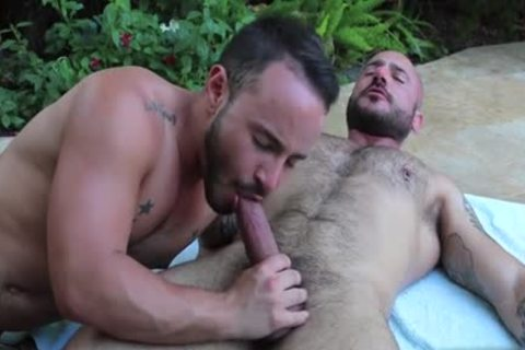 hairy Son arse To throat And Facial
