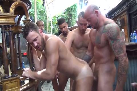 MusclePup Logan Moore receives gang gangbanged & Barebacked hammer