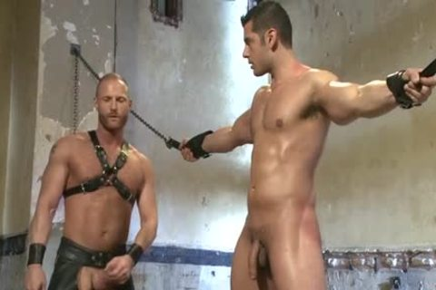 Muscle gay tied And Facial cum