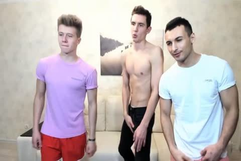 three Russian gracious guys With Great Round buttholes,admirable dicks On web camera