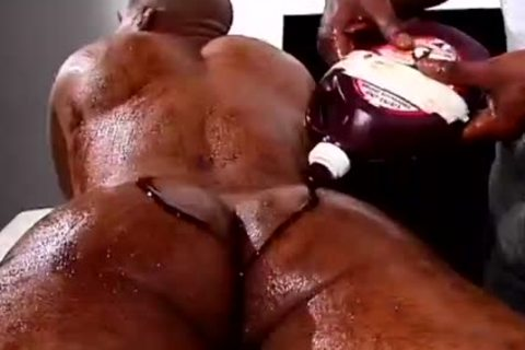 Two darksome men With Food Fetish bang Hard
