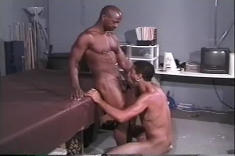 yummy black Muscle studs poke Hard In The Gym After Workout