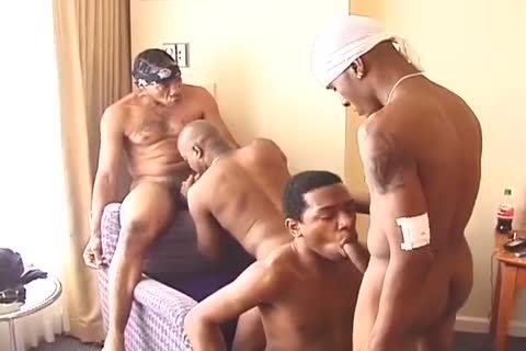 black boyz Turned Their Bedroom For group fuckfest