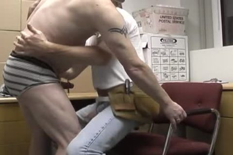 fascinating redneck office homo couple banging