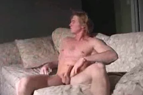 blond jerking off