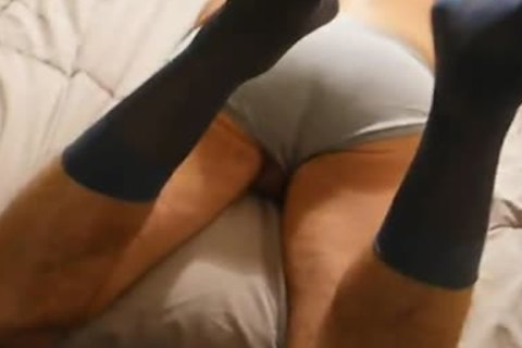 oral From 06/13/12-Daddy In Gray CK Briefs & Sheer suit Socks