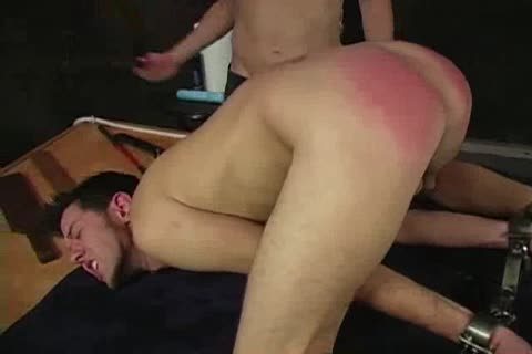 Spanked And fake penis