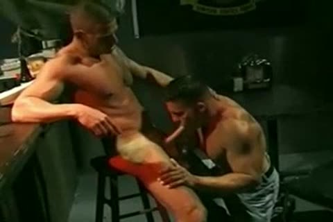 filthy Military chap pounding Bartender