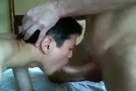 raw Interacial oriental And White Eat sperm