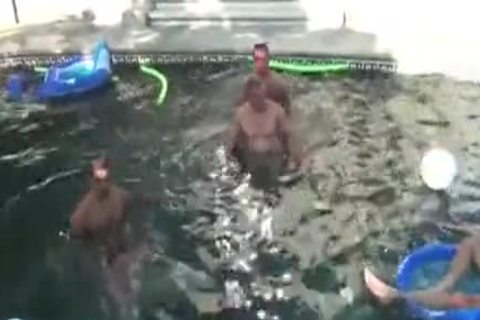 The MM - Pool Party gang gangbang