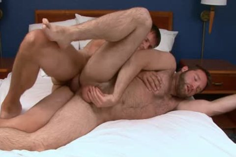 Barebacking hairy boy With Creampie