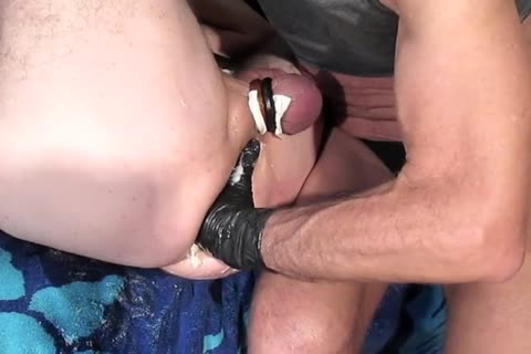 Brian Opens Joe's attractive gap For A Fist previous to Being Joined By A Third lad, Brock.    butthole Focused enjoyment And Camaraderie.