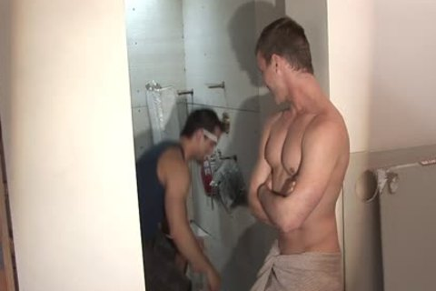 kinky gay Worker Getting poked And came
